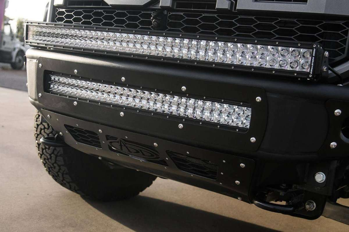ADD F112492820103 2017-2018 Ford F-150 Raptor Venom R Front Bumper With LED Light Mounts and Vents for intercooler-BumperStock