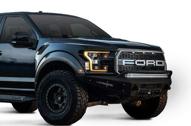 Add F117432860103 2017 2018 Ford F 150 Raptor Honeybadger Front Bumper With Ecoboost Venting And 40 Led Light Bar Mounts