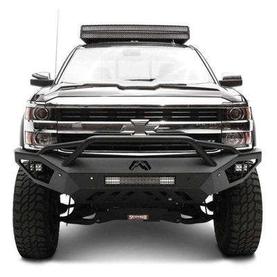 Fab Fours CH11-V2752-1 Chevy Silverado 2500/3500 2011-2014 Vengeance Front Bumper with Pre-Runner Guard-BumperStock