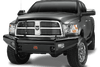 Fab Fours DR03-S1061-1 Dodge Ram 2500/3500/4500/5500 2003-2005 Black Steel Front Bumper No Guard-BumperStock