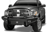 Fab Fours DR06-Q1162-1 Dodge Ram 2500/5500 2006-2009 Black Steel Elite Front Ranch Bumper Pre-runner Guard with Tow Hooks-BumperStock