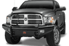 Fab Fours DR06-S1161-1 Dodge Ram 2500/3500/4500/5500 2006-2009 Black Steel Front Bumper No Guard-BumperStock
