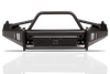 Fab Fours DR13-R2962-1 Dodge Ram 1500 2013-2018 Black Steel Elite Front Bumper with Pre-Runner Guard with Tow Hooks-BumperStock