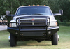 Fab Fours DR94-S1560-1 Dodge Ram 2500/3500/4500/5500 1994-2002 Black Steel Front Bumper Full Guard-BumperStock