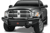 Fab Fours DR94-S1561-1 Dodge Ram 2500/3500/4500/5500 1994-2002 Black Steel Front Bumper No Guard-BumperStock