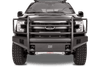 Fab Fours FF09-R1960-1 Ford F150 2009-2014 Black Steel Elite Front Bumper with Full Guard with Tow Hooks-BumperStock