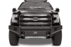 Fab Fours FF09-R1961-1 Ford F150 2009-2014 Black Steel Elite Front Bumper with No Guard with Tow Hooks-BumperStock