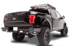 Fab Fours FF09-T1750-1 Ford F150 2009-2014 Black Steel Rear Bumper-BumperStock