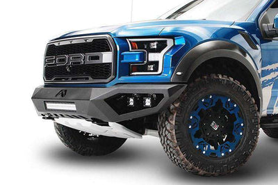 Fab Fours FF17-D4351-1 Ford F150 Raptor 2017-2018 Vengeance Front Bumper No Guard-BumperStock