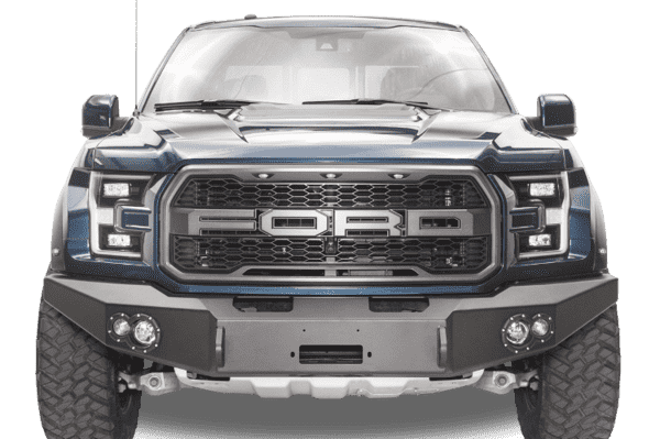 Fab Fours FF17-H4351-1 Ford F150 Raptor 2017-2018 Premium Front Bumper Winch Ready no Grill Guard-BumperStock