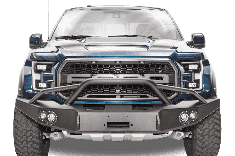 Fab Fours Ff17 H4352 1 Ford F150 Raptor 2017 2018 Premium Front Bumper Winch Ready With Pre Runner Grill Guard