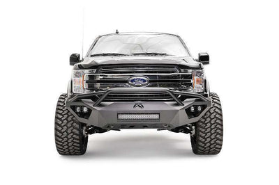 Fab Fours FF18-D4552-1 Ford F150 2018 Vengeance Front Bumper with Pre-Runner Guard-BumperStock