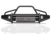 Fab Fours FF18-R4562-1 Ford F150 2018 Black Steel Elite Front Bumper with Pre-Runner Guard with Tow Hooks-BumperStock