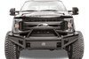 Fab Fours FS08-Q1962-1 Ford F250/F350 F450/F550 Super Duty 2008-2010 Black Steel Elite Front Bumper with Pre-Runner Guard with Tow Hooks-BumperStock