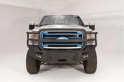 Fab Fours FS11-A2550-1 Ford F250/F350 Superduty 2011-2016 Premium Front Winch Bumper with Full Grill Guard-BumperStock