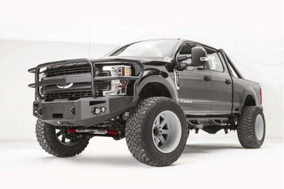 Fab Fours FS17-A4150-1 Ford F250/F350 Superduty 2017-2018 Premium Front Winch Bumper with Full Grill Guard-BumperStock