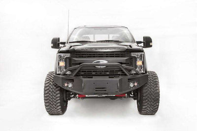 Fab Fours FS17-A4152-1 Ford F250/F350 Superduty 2017-2018 Premium Front Winch Bumper with Pre-runner Grill Guard-BumperStock