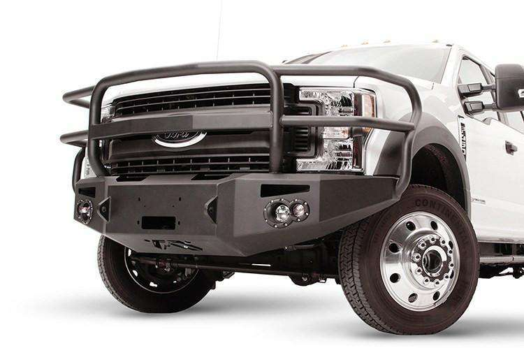 Fab Fours FS17-A4250-1 Ford F450/F550 Superduty 2017-2021 Premium Front Winch Bumper Full Guard-BumperStock