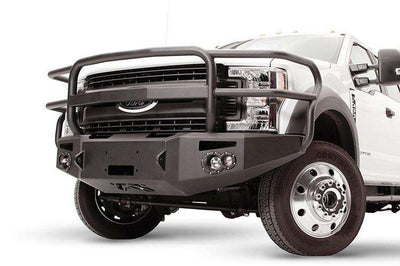 Fab Fours FS17-A4250-1 Ford F450/550 Superduty 2017-2018 Premium Front Winch Bumper with Full Grill Guard-BumperStock