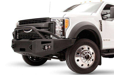 Fab Fours FS17-A4252-1 Ford F450/550 Superduty 2017-2018 Premium Front Winch Bumper with Pre-runner Grill Guard-BumperStock