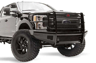Fab Fours FS17-S4160-1 Ford F250/F350 F450/F550 2017-2018 Black Steel Front Bumper with Full Guard-BumperStock