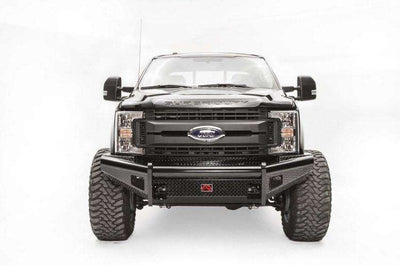 Fab Fours FS17-S4161-1 Ford F250/F350 F450/F550 2017-2018 Black Steel Front Bumper with No Guard-BumperStock