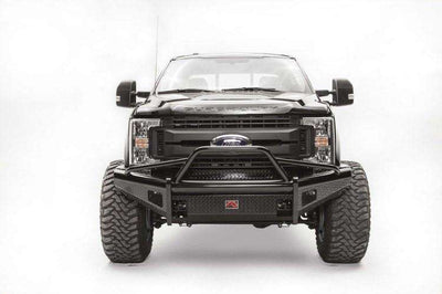 Fab Fours FS17-S4162-1 Ford F250/F350 F450/F550 2017-2018 Black Steel Front Bumper with Pre-Runner Guard-BumperStock