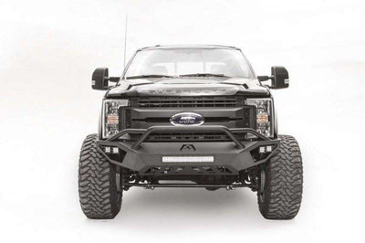 Fab Fours FS17-V4252-1 Ford F450/F550 2017-2018 Vengeance Front Bumper with Pre-Runner Guard-BumperStock