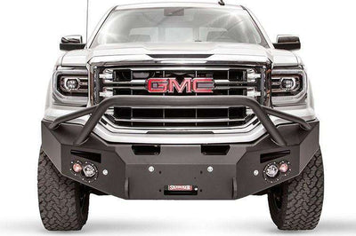 Fab Fours GC15-H3452-1 GMC Canyon 2015-2018 Premium Front Bumper Winch Ready with Pre-Runner Grill Guard-BumperStock