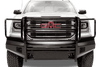Fab Fours GM07-K2160-1 GMC Sierra 1500 2007-2013 Black Steel Front Bumper with Full Guard with Tow Hooks-BumperStock