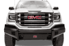 Fab Fours GM07-K2161-1 GMC Sierra 1500 2007-2013 Black Steel Front Bumper with No Guard with Tow Hooks-BumperStock