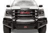Fab Fours GM07-K2162-1 GMC Sierra 1500 2007-2013 Black Steel Front Bumper with Pre-Runner Guard with Tow Hooks-BumperStock