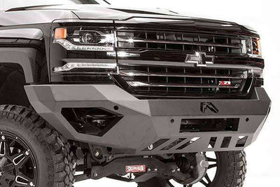 Fab Fours GM11-V2851-1 GMC HD 2500/3500 2011-2014 Vengeance Front Bumper No Guard-BumperStock
