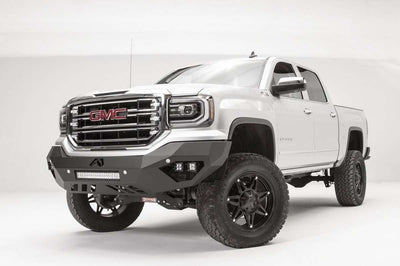 Fab Fours GS16-D3951-1 GMC Sierra 1500 2016-2018 Vengeance Front Bumper No Guard-BumperStock