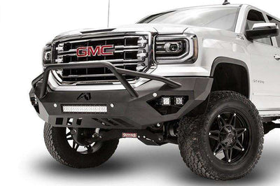 Fab Fours GS16-D3952-1 GMC Sierra 1500 2016-2018 Vengeance Front Bumper with Pre-Runner Guard-BumperStock