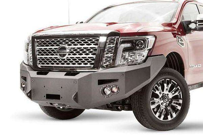 Fab Fours NT16-F3751-1 Nissan Titan XD 2016-2018 Premium Front Bumper Sensor Winch Ready with No Guard-BumperStock