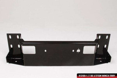 Fab Fours NT16-K3760-1 Nissan Titan Black Steel Front Bumper with Full Guard with Tow Hooks-BumperStock