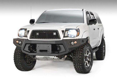 Fab Fours TT05-B1551-1 Toyota Tacoma 2005-2011 Premium Front Bumper Winch Ready no Grill Guard-BumperStock