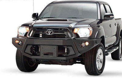 Fab Fours TT12-B1651-1 Toyota Tacoma 2012-2015 Premium Front Bumper Winch Ready no Grill Guard-BumperStock