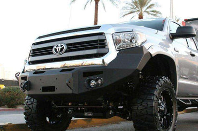 Fab Fours TT14-H2851-1 Toyota Tundra 2014-2018 Premium Front Bumper Winch Ready with Pre-Runner Grill Guard-BumperStock
