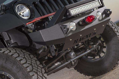 ICI Magnum RT FBM21JPN-RT 2007-2017 Jeep Wrangler JK Front Winch Bumper with Round Light Holes 4 inch-BumperStock