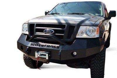 Iron Cross 04-08 FORD F150 Winch Front Bumper With Push Bar 22-415-04-BumperStock