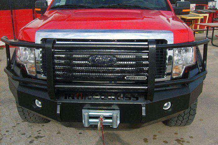 05 F150 Bumper >> Iron Cross 2005 2007 Ford F250 F350 F450 Winch Front Bumper With Grille Guard 24 425 05