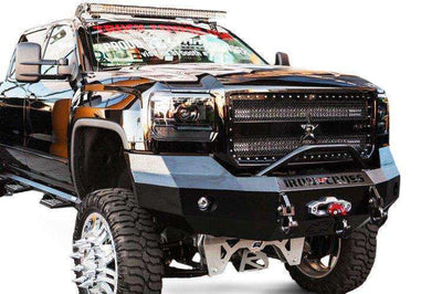Iron Cross 07-14 GMC Sierra 2500/3500 Winch Front Bumper With Push Bar 22-325-07-BumperStock