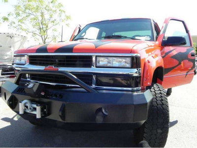 Iron Cross 1988-1998 Chevrolet Silverado 1500 Winch Front Bumper With Push Bar 22-515-88-BumperStock