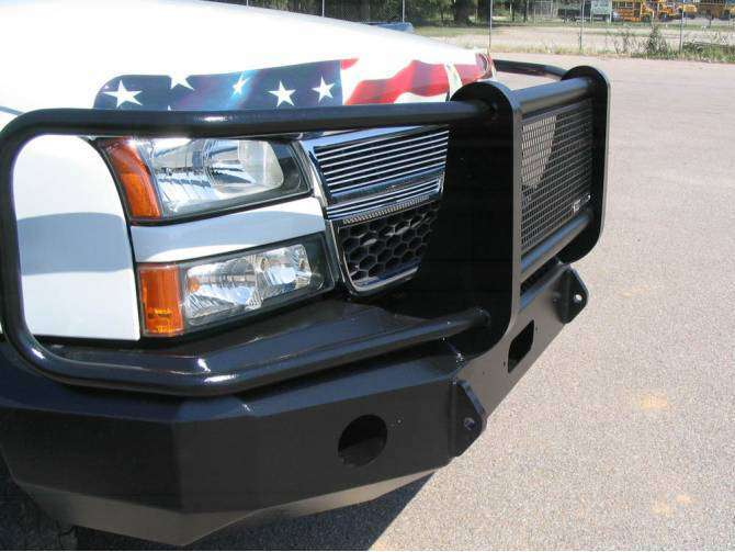 Iron Cross 1999-2002 Chevrolet Silverado 1500 Winch Front Bumper With Grille Guard 24-515-99-BumperStock