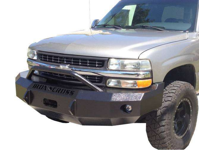 Iron Cross 1999-2002 Chevrolet Silverado 1500 Winch Front Bumper With Push Bar 22-515-99-BumperStock