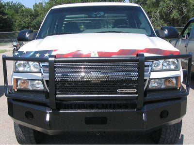 Iron Cross 2003-2006 Chevrolet Silverado 2500/3500 Winch Front Bumper With Grille Guard 24-525-03-BumperStock
