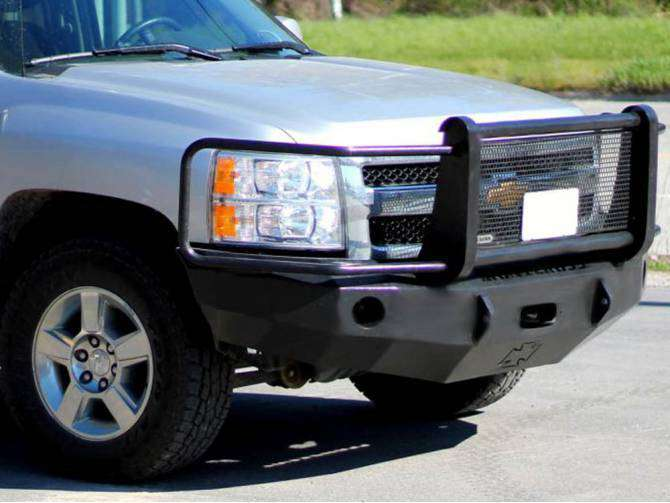 Iron Cross 2007-2010 Chevrolet Silverado 2500/3500 Winch Front Bumper With Grille Guard 24-525-07-BumperStock