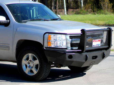 Iron Cross 2007-2013 Chevrolet Silverado 1500 Winch Front Bumper With Grille Guard 24-515-07-BumperStock